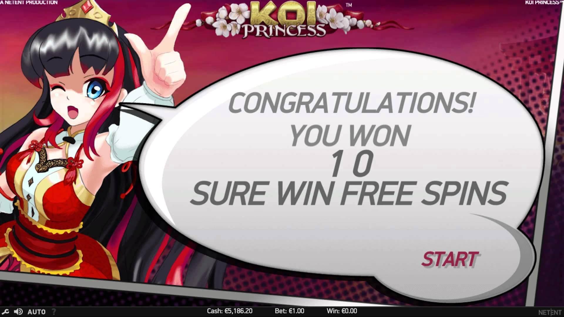 Koi Princess NetEnt Gokkast Sure Win