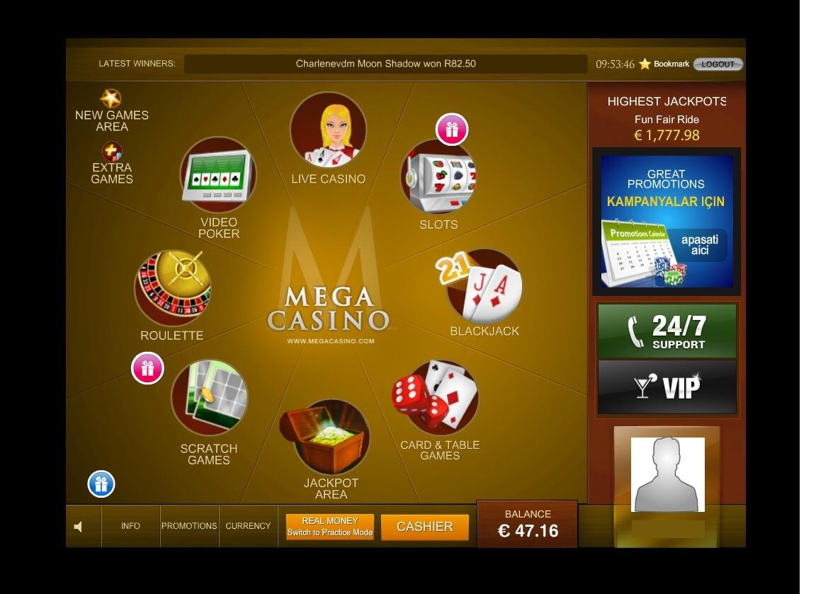 Mega Casino Review Uiterlijk