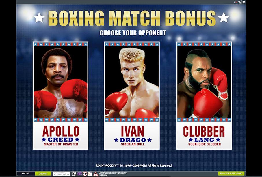 Rocky Gokkast Bonusgame