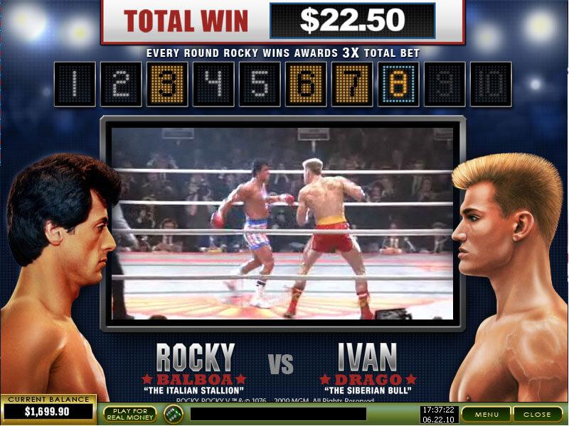 Rocky Gokkast Bonusgame2