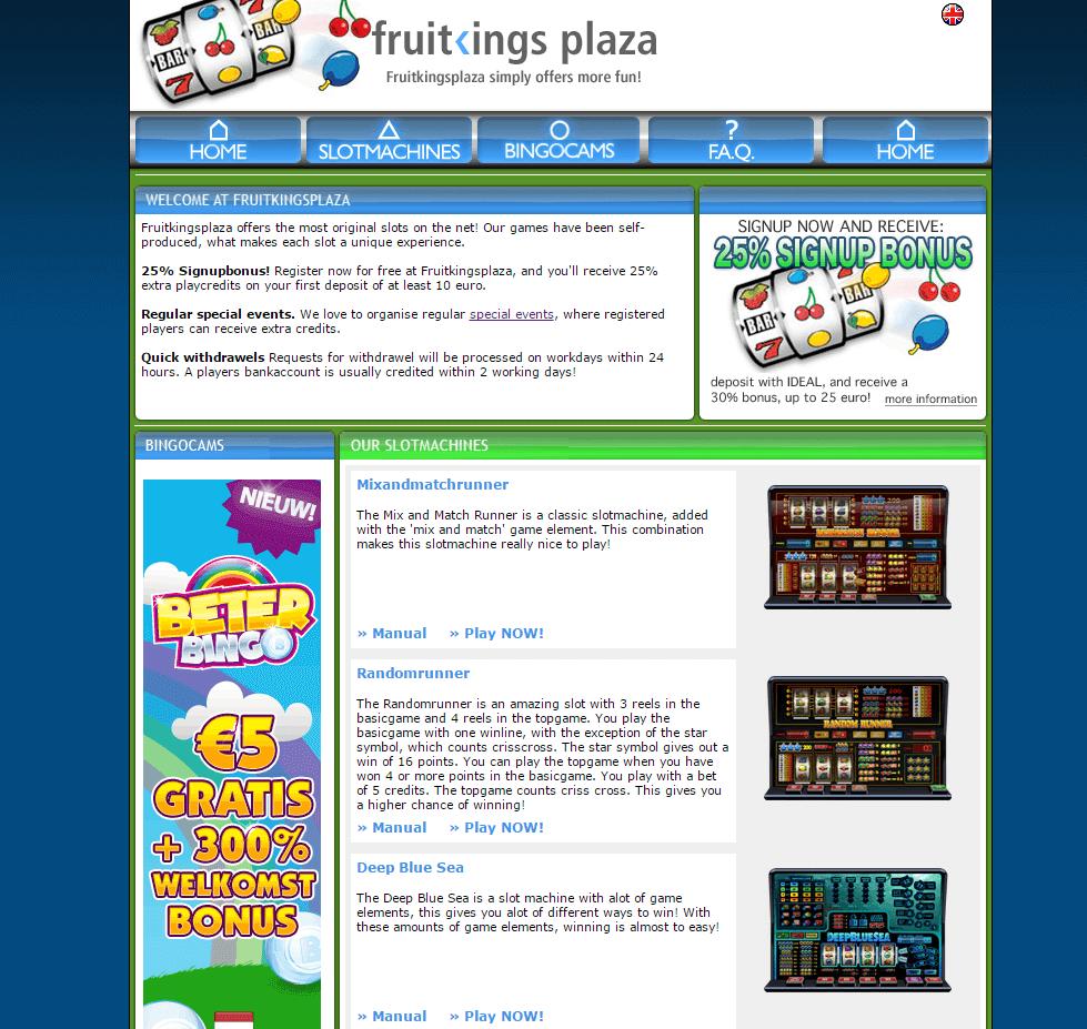 FruitkingsPlaza Review Welkomst Pagina