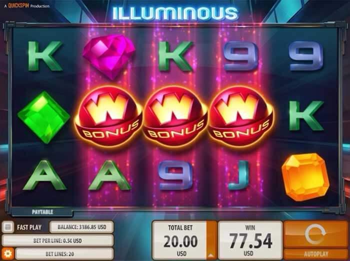 Illuminous Gokkast Bonus