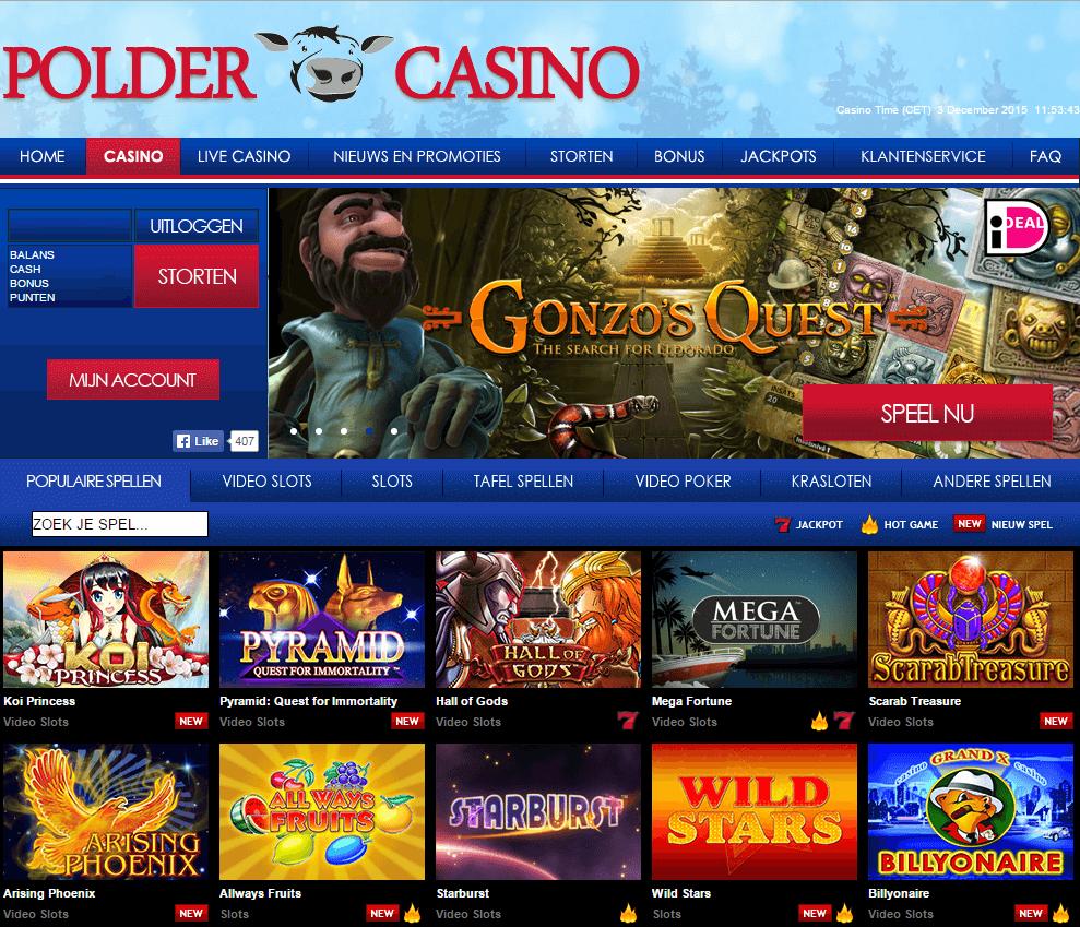 Polder Casino Review Gokkasten