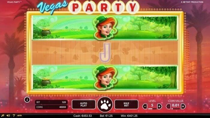 Vegas Party Gokkast Feature
