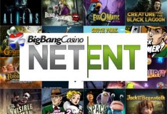 Big Bang Casino heeft nu ook NetEnt Gokkasten
