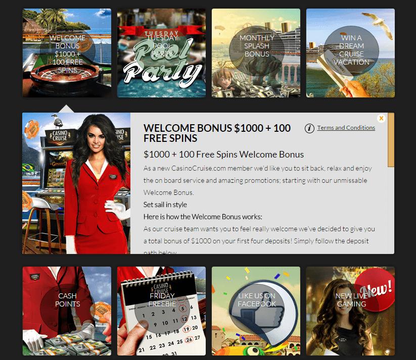 Casino Cruise Review Bonussen
