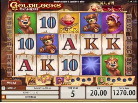 Goldilocks and the Wild Bears Gokkast Free Spins