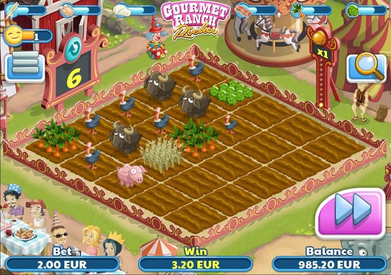 Gourmet Ranch Riches Bonusgame