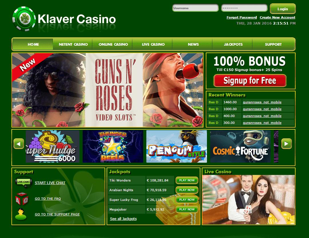 Klaver Casino Uiterlijk