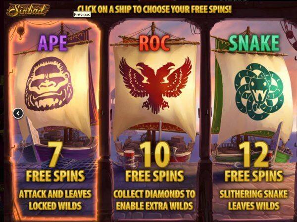 Sinbad Gokkast Free Spins