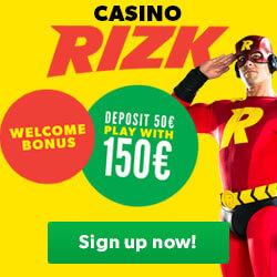 Welkomstbonus van 200% bij Rizk Casino