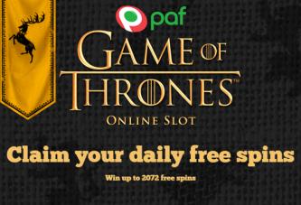 Claim de Iron Throne van Westeros bij Paf!