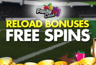 EK 2016 Reloads en Gratis Spins bij FruityCasa
