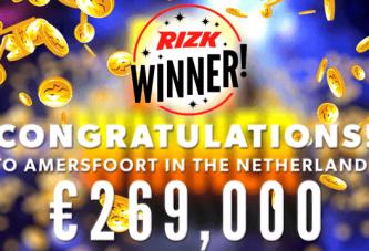 Nederlander wint de Progressieve Jackpot van Rizk!