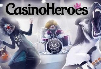 Ontvang 185 dagelijkse gratis spins op Motörhead bij Casino Heroes!