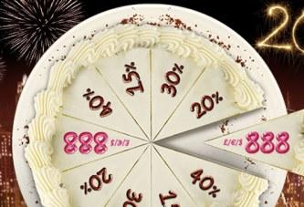 Ontvang tot € 888 voor het Nieuw Jaar bij 888!