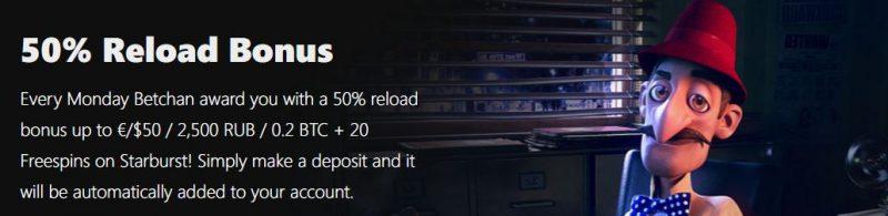 BetChan Reload Bonus