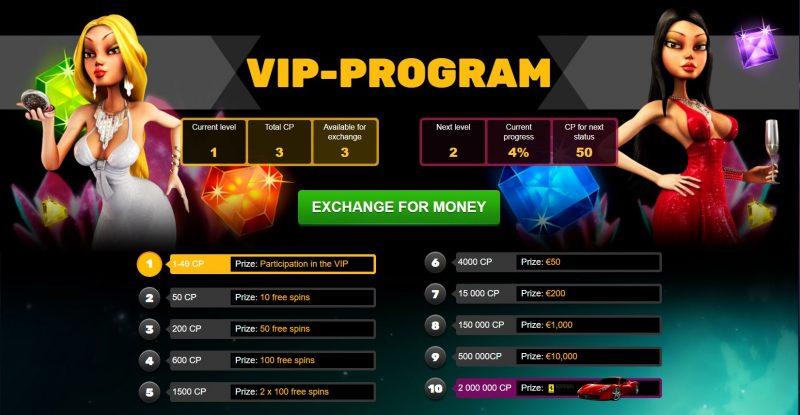 PlayAmo VIP Programma