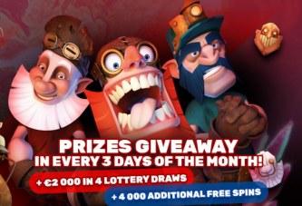 Maak kans op €30.000 en 10.000 gratis spins