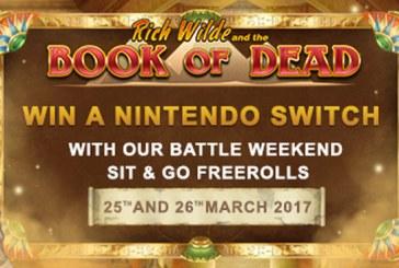 Win een Nintendo Switch bij Videoslots.com!