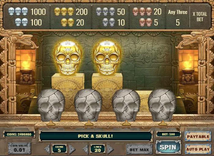 Aztec Princess Bonus Skull