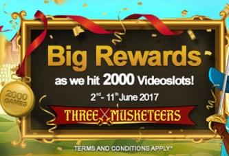 Videoslots bereikt 2.000 spellen!